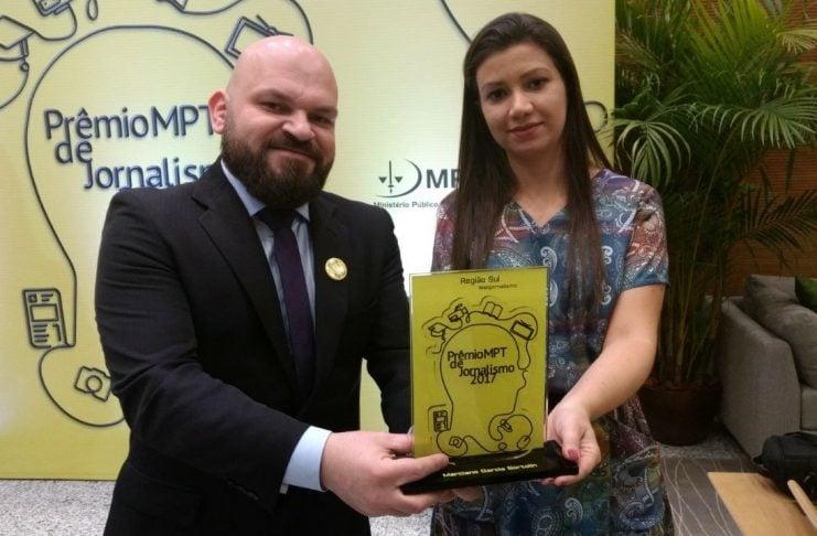"""[Pela segunda vez, DN conquista """"Prêmio MPT de Jornalismo""""]"""